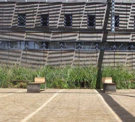 mobilier urbain bancs bois corten Toulouse
