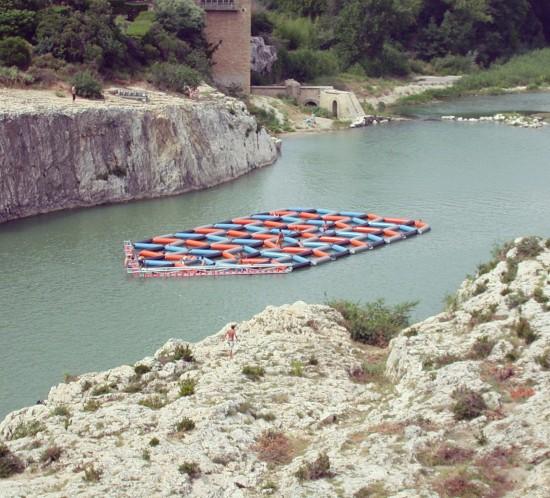 tapis flottant Patrick Bouchain Pont du Gard